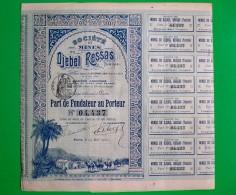 T-CFR Societé Des Mines Du Djebel Ressas Tunisie 1900 - Actions & Titres