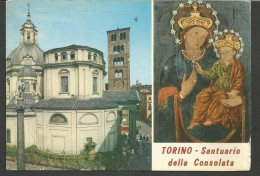 IC110--- CARTOLINE,    TORINO,   SANTUARIO DELLA CONSOLATA, - Kerken