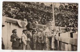 Lot De 4 Cartes Photos - Corridas Dans Les Arènes De NIMES - 1913 - Matadors , Peones , Alguazil ... - Nîmes