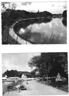 PONT L ABBE LOT DE 3 CARTES LE MONUMENT ET LA RIVIERE + LA ROSACE L EGLISE DES CARMES - Pont L'Abbe