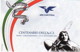ROMA - 2011 - Aero Club D'Italia: 100 Anni Di Storia -1911 - 2011 - - 1946-....: Moderne