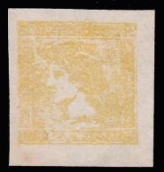 Lombardo Veneto: Francobollo Per Giornali 30 C. Giallo Chiaro - 1851/55 - Lombardo-Veneto