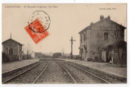 """ CANAULES - St Nazaire-Logrian - La GARE ""  - TRES RARE ! - Quissac"