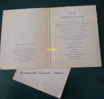 Menu    Dejeuner Et Diner 12 Aout 1935 Famille Servais - Menus