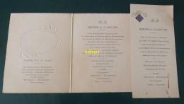 Menu    Dejeuner Et Diner 12 Aout 1935et Du Dejeuner Du 13 Aout 1935 De Madame Beroudiaux - Menu