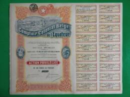 T-CBE Comptoir Colonial Belge De L´Equateur 1920 CONGO - Actions & Titres
