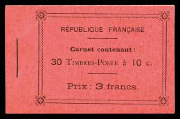 N°138C8, 10c Rouge, Carnet De 30 Timbres5 Feuillets De 6 Sur Papier Mélangés (X Et Normal), RARE Et SUPERBE (certificat) - Uso Corrente