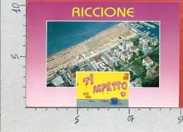 CARTOLINA VG ITALIA - RICCIONE (RN) - Ti Aspetto - Panorama -. Veduta Aerea - 10 X 15 - ANN. 1996 - Rimini