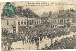 62  CALAIS  FUNERAILLES NATIONALES  LE 22 JUIN  1910 LE DELAGATION DES OFFICIERS DES MARINES  ETRANGERES - France