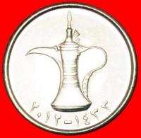 § JUG: UNITED ARAB EMIRATES ★ 1 DIRHAM 1433 - 2012 MINT LUSTER! LOW START ★ NO RESERVE! - Emirats Arabes Unis