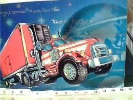 CAMION  TIR AUGURI BUON NATALE  ILLUSTRATA N1990 FK616 - Camion, Tir