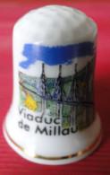 Dé à Coudre - Viaduc De Millau (12) - Dessin Sur Porcelaine - Collection - Ditali Da Cucito