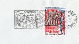 1978 - Monaco - Festival International Du Cirque - SECAP Et Timbre Concordant N°1168 - Machine Stamps (ATM)
