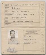 AUSTRIA 1971 - PASSEPORT - PASAPORTE Issued In URUGUAY - Documentos Históricos