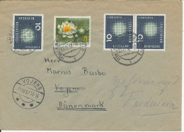 Germany Cover Sent To Denmark Amberg 23-10-1957 And Received Vojens 24-10-1957 - [7] Federal Republic