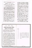 ATTENHOVEN - KOERSEL - SINT-TRUIDEN , Doodsprentje Van Alfond TIELENS En Joseph PEETERS (mijnwerkers)+ 1955 - Religion & Esotericism