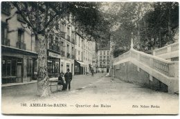 - 766 - AMELIE-les-BAINS - Quartier Des Bains, Splendide, Peu Courante, édit Nelson Bordes, Non écrite, TBE, Scans. - Autres Communes