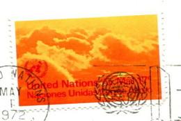 Nations Unies 1972 - Poste Aérienne YT 17 (o) Sur Fragment - Oblitérés