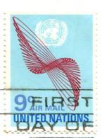 Nations Unies 1972 - Poste Aérienne YT 15 (o) Sur Fragment - Oblitérés