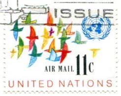 Nations Unies 1972 - Poste Aérienne YT 16 (o) Sur Fragment - Oblitérés