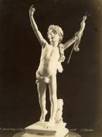 France Musee Du Luxembourg Sculpture Saint Jean Enfant Par Lafrance Ancienne Photo 1880 - Old (before 1900)