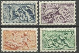 FRANCIA 1949  Yt:FR 859/62, Mi:FR 877/80 ** MNH LAS CUATRO ESTACIONES - Francia
