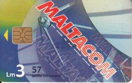 MALTA - Satellite Dish, Maltacom 2, Tirage 50000, 10/00, Used - Raumfahrt