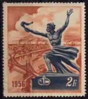 Danube Bridge Industry Factory Steamer Steamship / Soviet Russian CCCP / Hungarian Hungary Society - Label Cinderella - Bridges