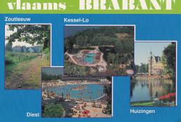 Grote Kaart Vlaams Brabant Kessel-Lo Diest Huizingen Zoutleeuw - België