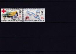 BRITISH RED CROSS CENTENARY 1870-1970, BRITISH SOLOMON ISLANDS - Iles Salomon (...-1978)
