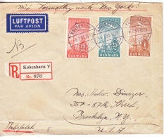 DENMARK  FLIGHT  COVER  TO US - Airmail