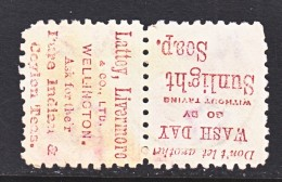 NEW  ZEALAND  61   Perf.  10   *     ADVERTISMENT - 1855-1907 Crown Colony