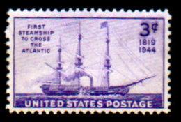 USA, 1944, Scott #923, First Steamship To Cross The Atlantic, Used, LH, VF - Usati