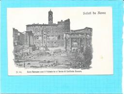 ROMA - ROME - ITALIE -  CPA DOS SIMPLE RARE - Saluti Da ROMA - Foro Romano Con Il Tabulario E L'arco - ENCH1202 - - Roma (Rome)