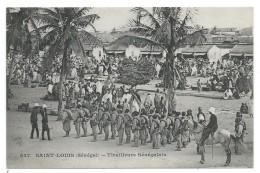 CPA Précurseur  - SAINT LOUIS  SENEGAL   TIRAILLEURS SENEGALAIS  - Animée, Soldats, Cavaliers.... - Regiments