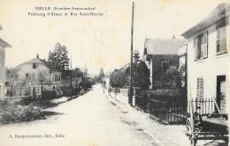 Delle (Frontière Franco-Suisse) - Faubourg D'Alsace Et Rue Saint-Nicolas - Edition A. Burgermeister - Delle