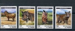 Niger 2015 MNH Warthogs 4v Set Wild Animals Fauna Common Warthog Stamps - Unclassified