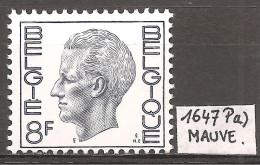 N° 1647P5a, Mauve. Neuf Sans Charnière. - 1970-1980 Elström