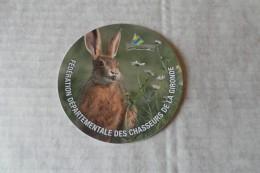 Autocollant Chasse /fédération Départementale Des Chasseurs De La Gironde - Adesivi
