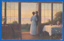 Malerei; Krogh V.; Abenfrieden; 1917 Marine Schiffpost; Dänische Kunst - Illustrators & Photographers