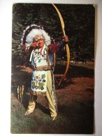 Carte Postale Etats Unis Winnebago Indians (oblitérée 1983 + Timbre Basket Olympics 84 ) - Etats-Unis