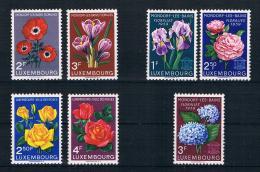 Luxemburg 1956/59 Blumen Mi.Nr. 547/48 + 49/50 + 606/08 Kpl. Satz ** - Ungebraucht