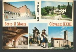 IC138--- CARTOLINE,   BERGAMO, SOTTO MONTE GIOVANNI, SALUTI, - Bergamo