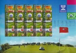 Malaysia World Cup Golf ´99 1999 Games Sport (sheetlet) MNH - Malaysia (1964-...)