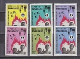 Rwanda 1966 No Nuclear Bombs 6v ** Mnh (29084) - Rwanda