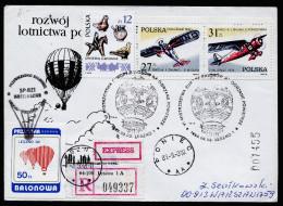 A3935) Polen R-Express-Brief Ballonpost Von Leszno 3.9.1988 - Ballonpost
