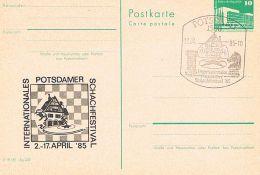 S26 - DDR - 1500 Potsdam 1 - Ganzsache Mit Sonderstempel Internationales Potsdamer Schachfestival 1985 - Schaken