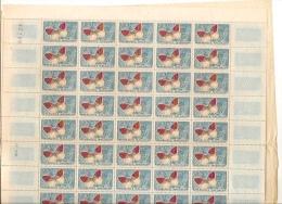 PAPILLONS DE MADAGASCAR  FEUILLE DE  50 TIMBRES **   0.30 - Schmetterlinge