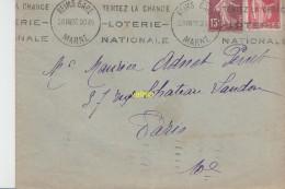 Timbres  Sur Lettre   Reims 1937 - Gebraucht
