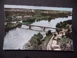 CPSM  1 Villeneuve Sur Allier Le Pont Et Les Bords De L Allier - France